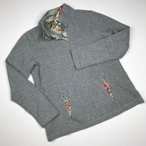 Tommy Bahama botanical tiki knit ribbed pullover